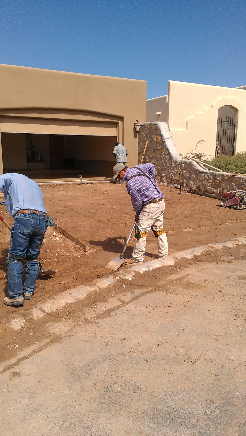 Las cruces new home gets concrete work robert hall homes for New home blog